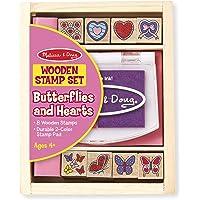 Melissa & Doug Juego de sellos de mariposas y corazones