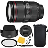 Canon EF 24–105mm f/4L IS II USM Lens + UV Filter + Collapsible Rubber Lens Hood + Lens Cleaning Pen + Lens Cap Keeper + Cleaning Cloth - 24-105mm II IS: Ultrasonics Motor - International Version