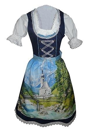 Di05 Exclusivas, Midi Dirndl, 3 piezas, vestido de traje ...