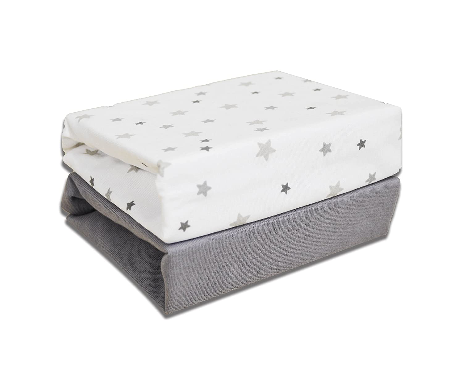 Cuddles Collection Magical Stars Crib Fitted Sheets (White) CCU11252