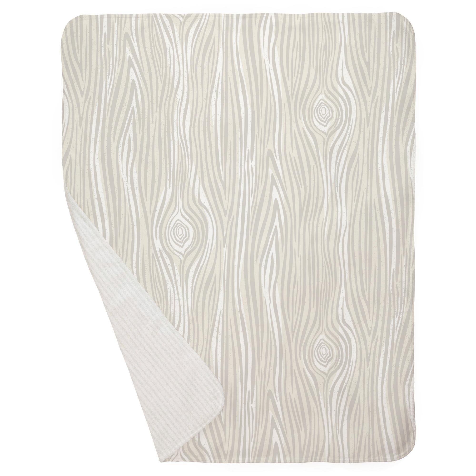 Carousel Designs French Gray Large Woodgrain Mini Crib Blanket by Carousel Designs (Image #3)