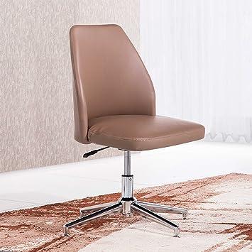 Butaca - Silla de escritorio para despacho modelo MIKE base fija color visón - Sedutahome
