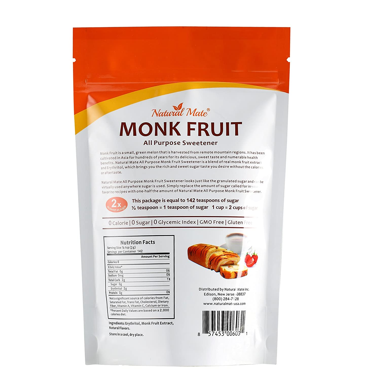 Amazon.com : All Purpose Granular Monkfruit Sweetener (with Erythritol),  10oz/Pack, 2x Sugar Sweetness (Pack 3) : Grocery & Gourmet Food