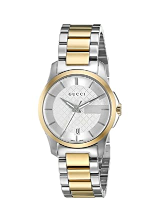 af17d456ac290d Gucci Swiss Quartz Stainless Steel Dress Two-Tone Women s Watch(Model   YA126531)