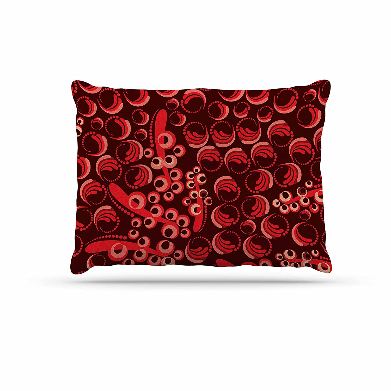 KESS InHouse Maria Bazarova Berry Red Maroon Dog Bed, 30  x 40