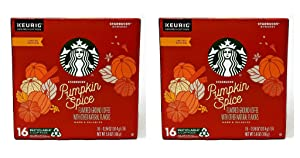 Starbucks 2019 Pumpkin Spice Coffee K Cup Pods - 32 K Cups Total - Limited Edition Flavored Coffee - Use in Keurig Brewers