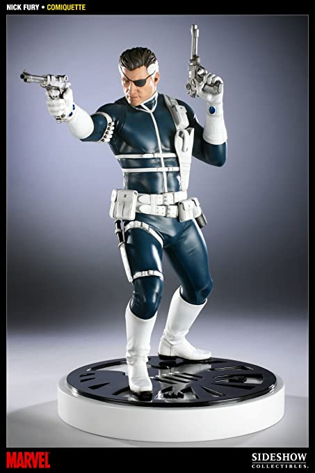 Marvel Comiquette Nick Fury 1//5 Scale Statue SIDESHOW TOYS