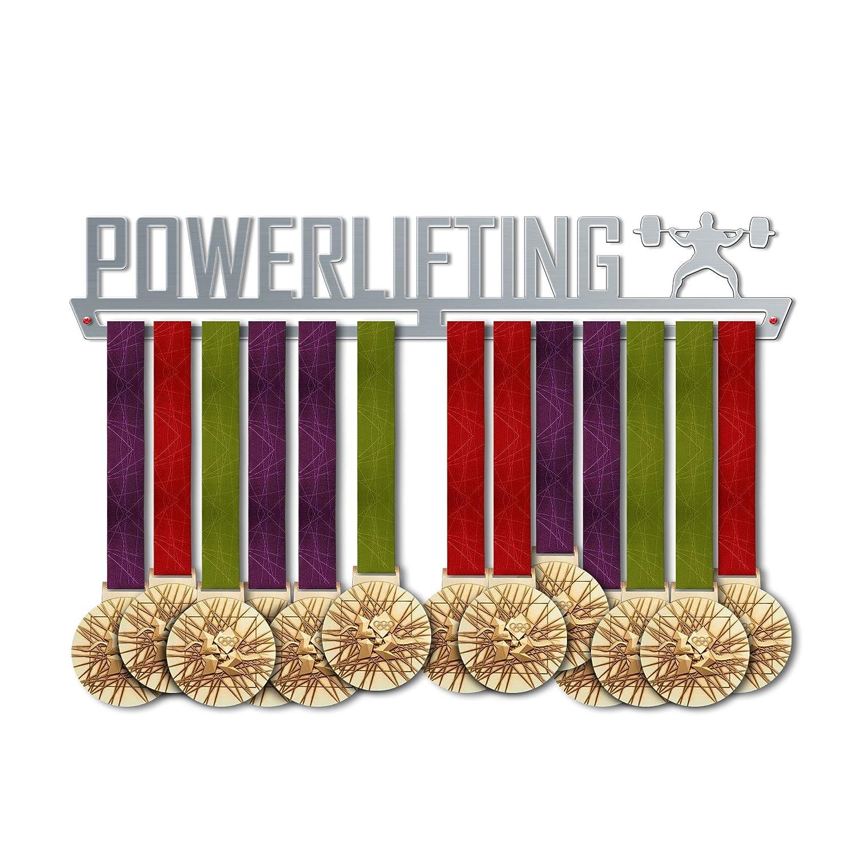 パワーリフティングメダルハンガー表示|スポーツメダルハンガー|ステンレススチールMedal表示| by victoryhangers – The Best Gift For Champions 。 B079MQ4FPY 13.78 インチ