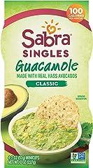 Sabra Singles, Classic Guacamole, Plant-Based, Vegan, Gluten Free, 2oz Cups, 4ct