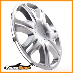 Wheel Trims Hub Caps for Skoda#2432224 Silver Winter and Summer 16 Inch Hubcaps