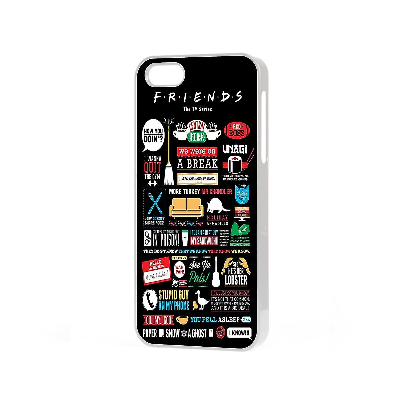e1a3b5ab8d8d Friends Quotes iPhone case to fit Apple iPhone 4 , 4s , 5 , 5s , 5c , 6 , 6  plus . (Apple iPhone 6, Black): Amazon.co.uk: Electronics