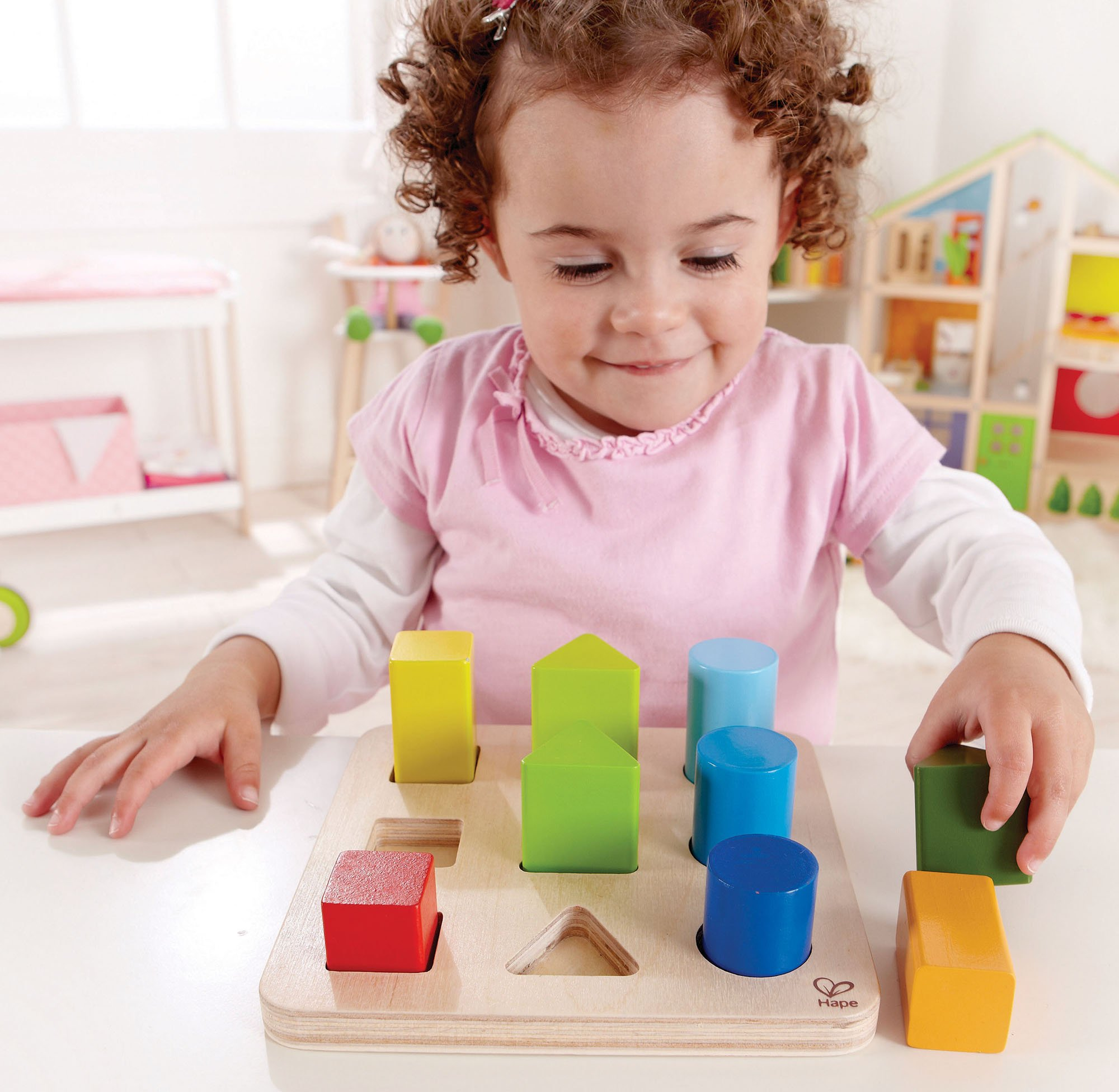 Hape Color and Shape Wooden Block Sorter by Hape (Image #5)