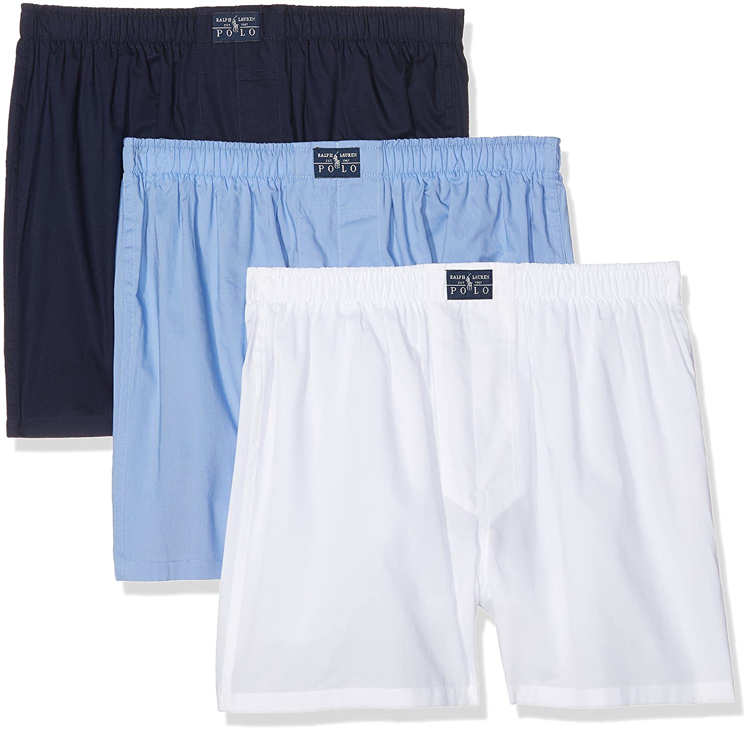 Polo Ralph Lauren Open 3 Pack-Boxer, Mehrfarbig (3Pk White/Blue ...