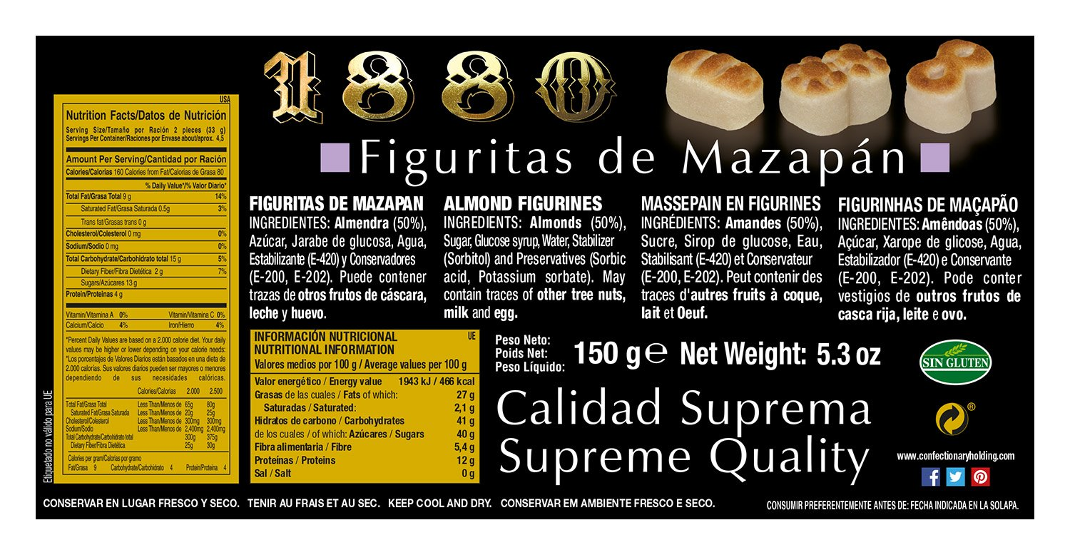 Amazon.com : 1880 Figuritas de Mazapan marzipan figurines 150g : Grocery & Gourmet Food