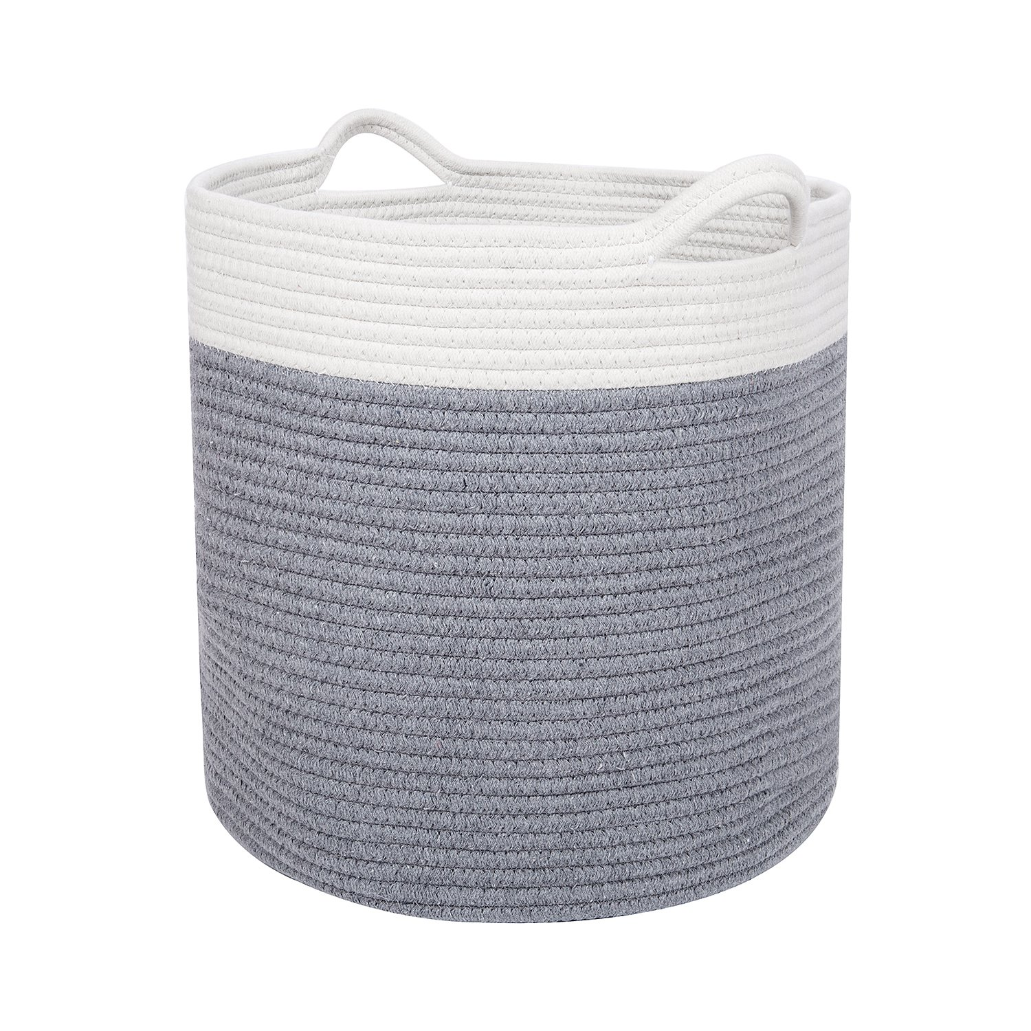 """Large 17"""" x 15"""" Cotton Storage Basket for Men, Women, Kids & Baby 