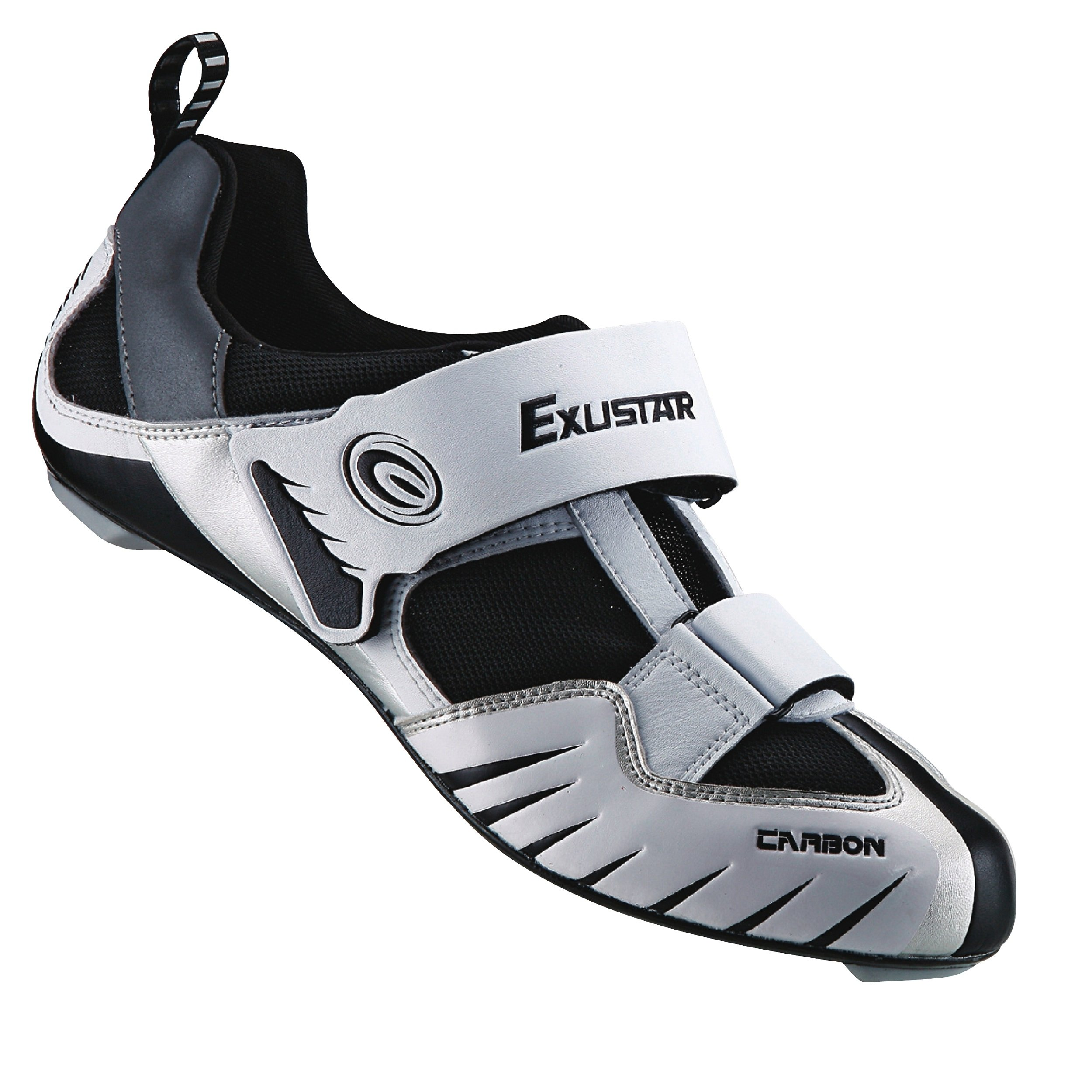 Exustar E-ST213 Triathlon Shoe, White, Size 45