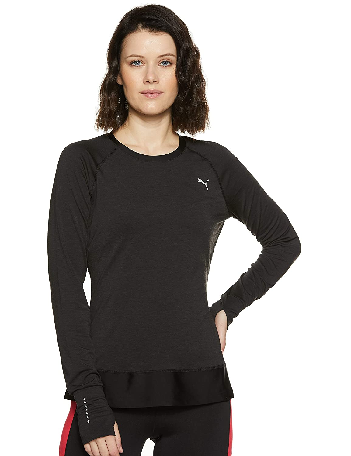 PUMA Damen L/S Winter Tee W T-Shirt