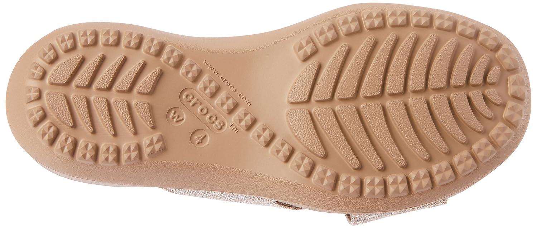 Crocs Capri Shimmer Xband Sandal Women, Sandalias de Punta Descubierta para Mujer, Blanco (Oyster/Cobblestone 1C4), 39/40 EU