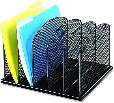 Durable Steel Mesh Construction Black Powder Coat Finish Safco Products Onyx Mesh 3 Sorter//3 Tray Desktop Organizer 3254BL