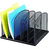 Safco Products Onyx Mesh 5 Sort Vertical Desktop Organizer 3256BL, Black Powder Coat Finish, Durable Steel Mesh…