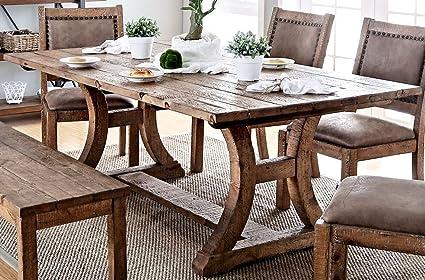 Tremendous Amazon Com Furniture Of America Gianna Rustic Pine 77 Download Free Architecture Designs Jebrpmadebymaigaardcom