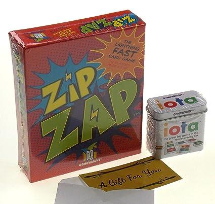 Amazon com: Iota & Zip Zap Card Game Bundle with a Gift Card