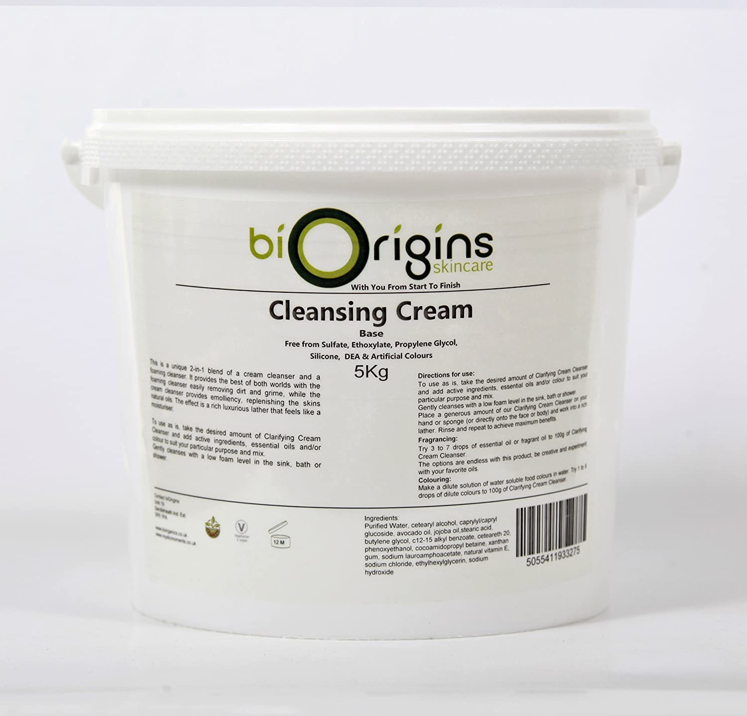 Clarifying Cleansing Cream - Botanical Skincare Base - 5Kg B011E2CW7Q