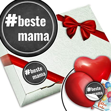 Hashtag Compleanno Mamma.Confezione Regalo Beste Mama Hashtag Mama Amazon It Cancelleria