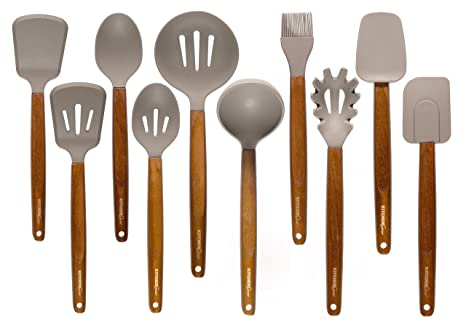 Kitchen Gear Silicone Kitchen Utensils - set of 10