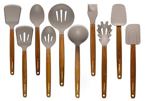 Kitchen Gear Silicone Kitchen Utensils Set Of 10