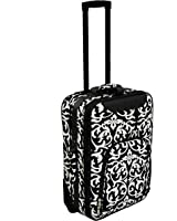 World Traveler 20 Inch Rolling Carry-On Luggage Suitcase
