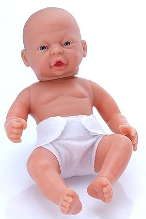 Belonil Little Tiny, muñeca europea con pañal y boca abierta, 24 cm (The