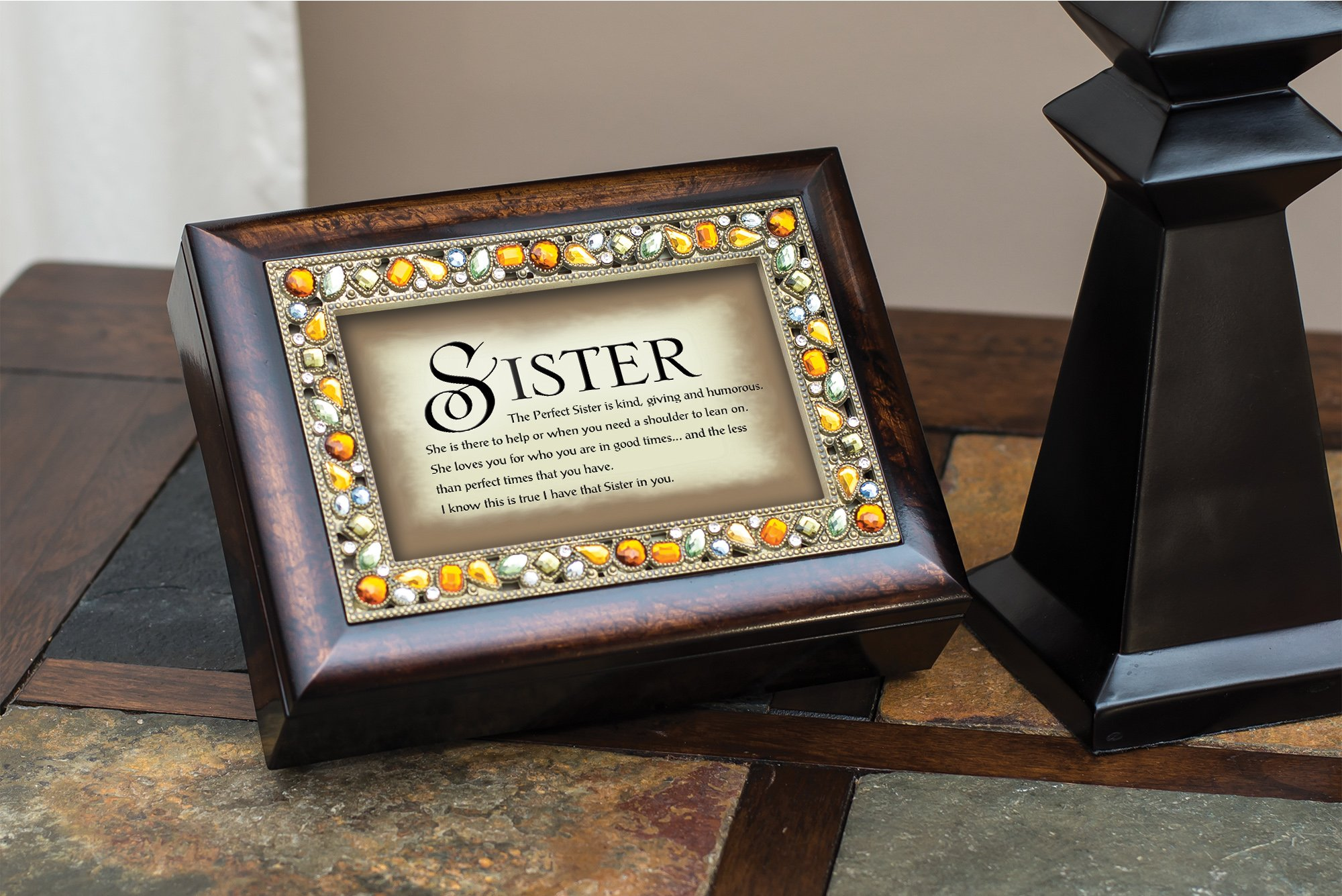 The Perfect Sister Italian Style Musical Jewelry Box by Cottage Garden by Cottage Garden by Cottage Garden (Image #4)