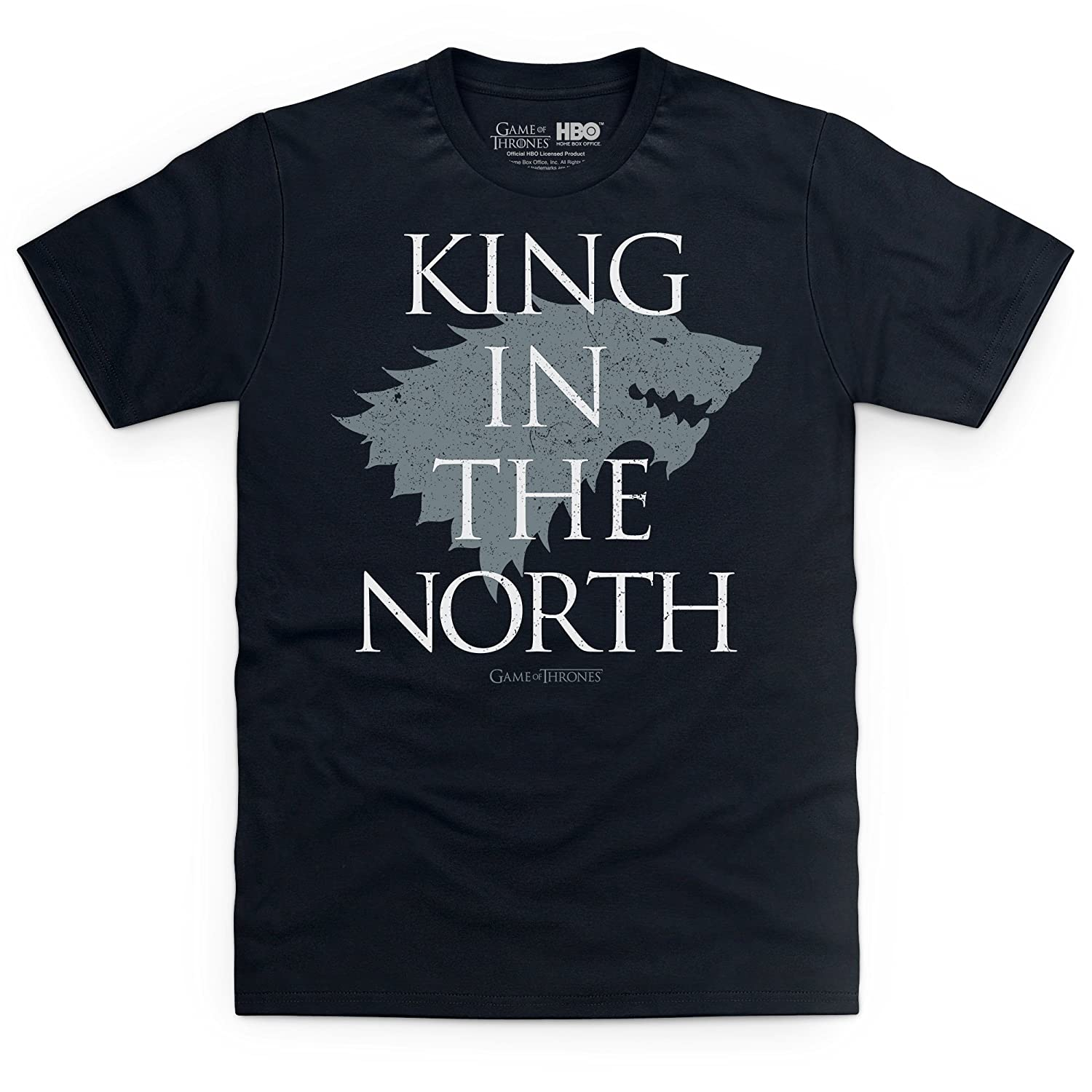 Official Game of Thrones King in The North T-Shirt Uomo