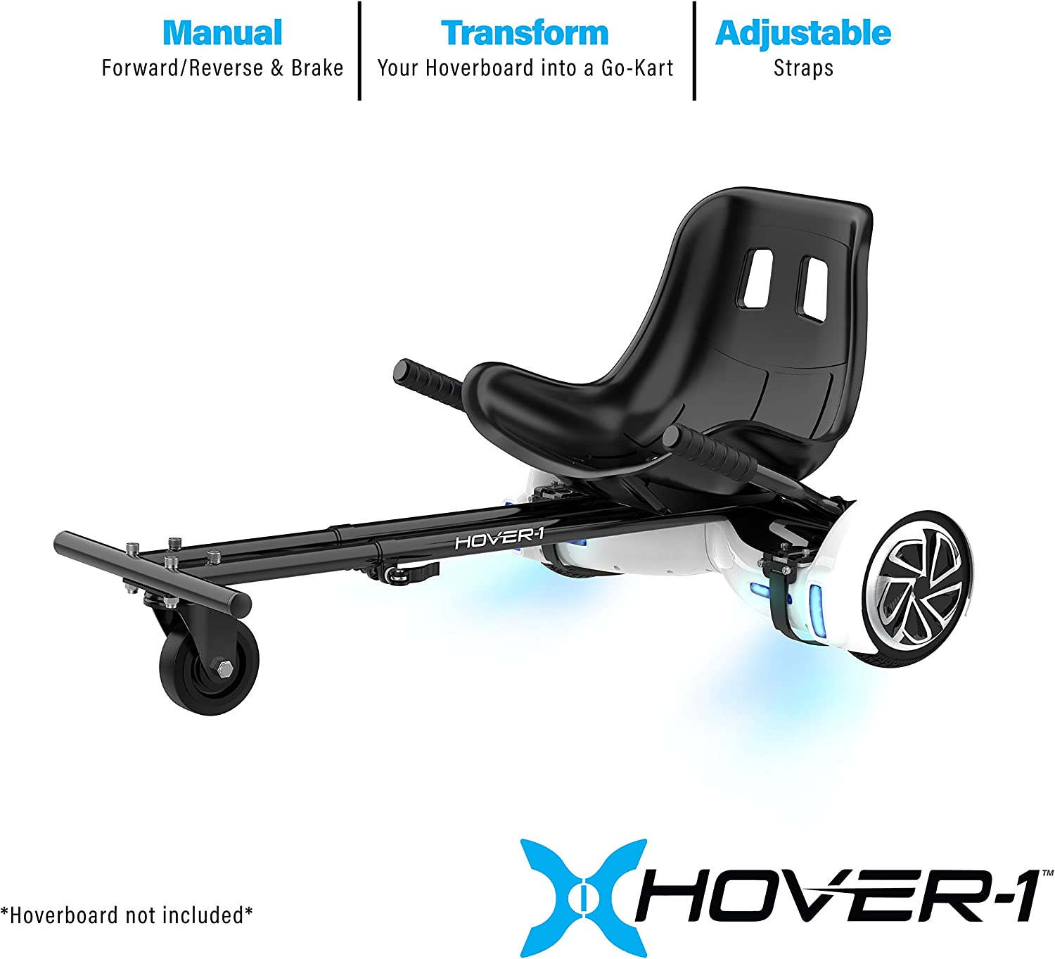 Self Balance Scooter Board Fit with Adjustable Hoverkart Seat for Kids Racer Hover Electric Kart 6.5 8 10 Air Cushion Hoverboards Yinguo Hoverboard Go Kart