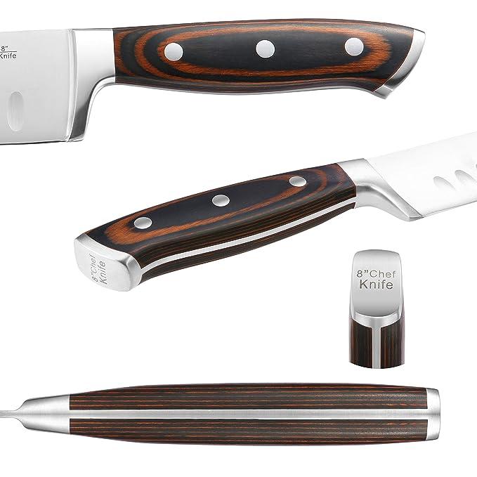 Amazon.com: Juego de cuchillos de cocina de 7 piezas con ...