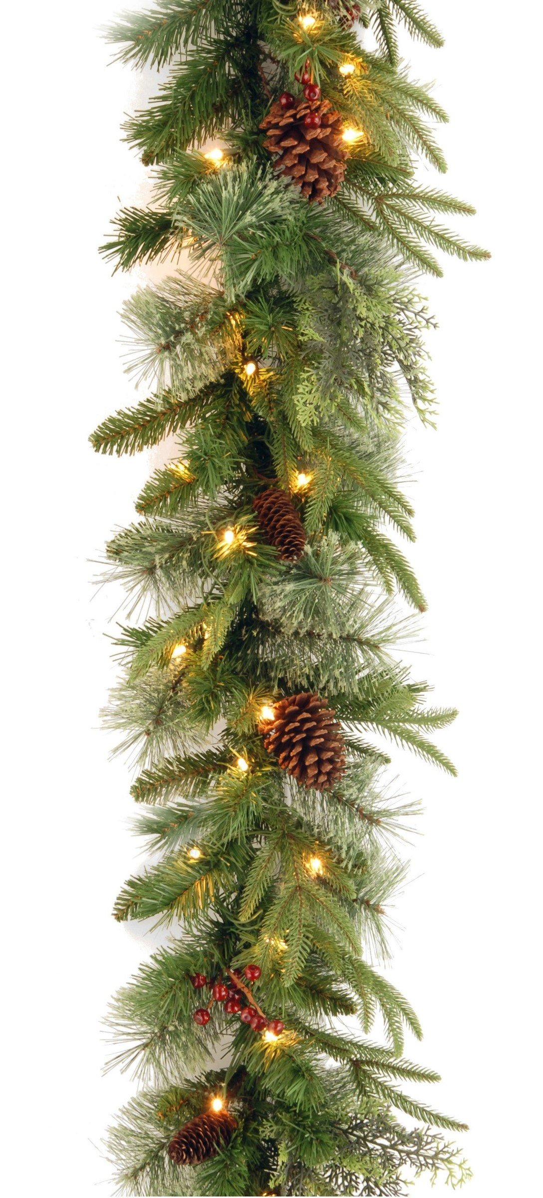 National Tree 9 Foot By 10 Inch Feel Real Colonial Garland