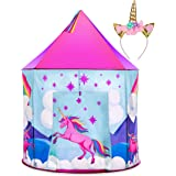 Unicorn Pop Up Kids Tent - Unicorn Play Tents for Girls or Boys w/ Unicorn Headband Toys, Indoor Outdoor Castle Princess Tent for Toddlers or Children
