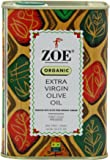Zoe Organic Extra Virgin Olive Oil, 25.5 FL. OZ. tins (Pack of 2)