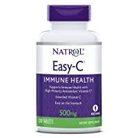 Natrol Easy-C Immune Health, Supports Immune Health with High-Potency Antioxidant Vitamin C, Tablets, 500 mg, 120 Count