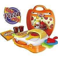 Webby Pizza Suitcase Set (Multi-Color, 22 Pieces)