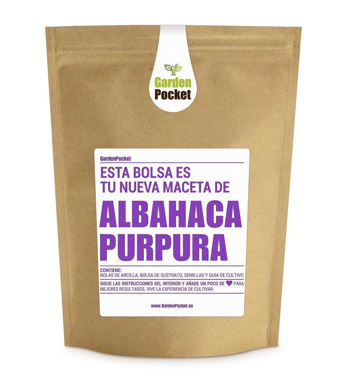 Garden Pocket - Kit de Cultivo de ALBAHACA PÚRPURA - Bolsa Maceta