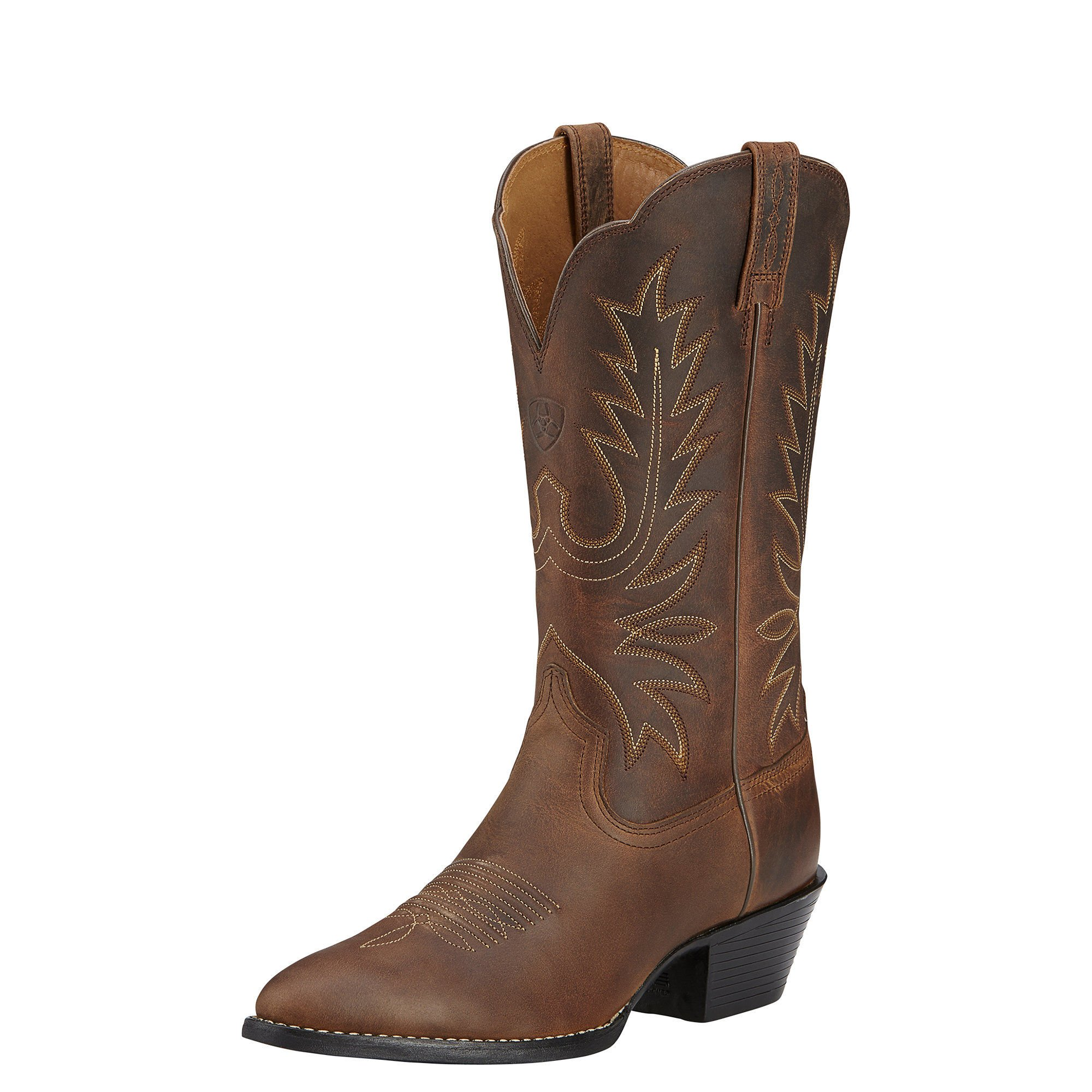 Ariat Women's Heritage Western R Toe Western Cowboy Boot, Distressed Brown, 8.5 B US