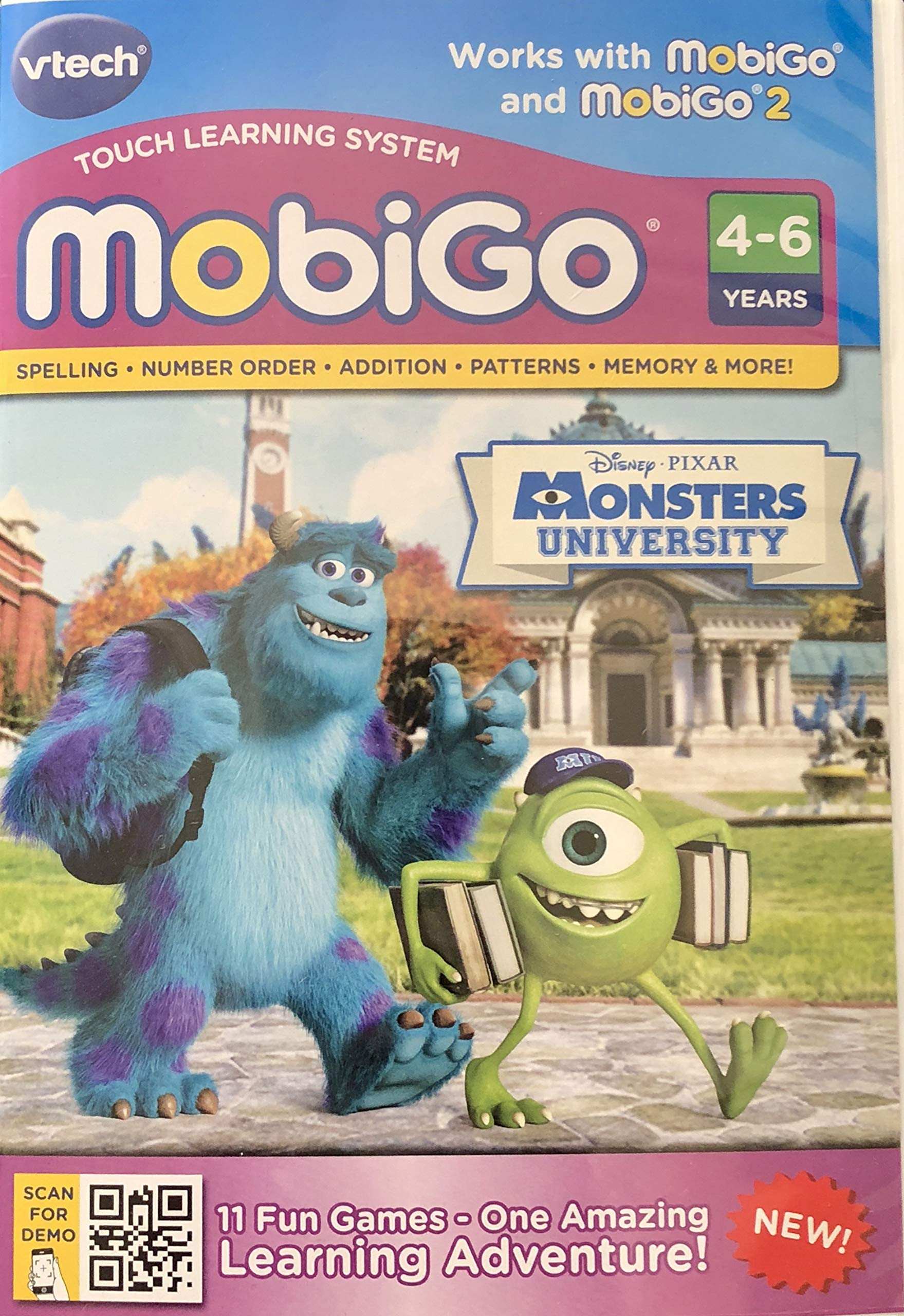 MobiGo Vtech Touch Learning System Bundle Includes: 4X Games - Disney Fairies, Disney Princess, Dinosaur Train, Monsters University & $20 Download Card (Bundle One) by MobiGo (Image #5)