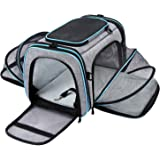 MASKEYON Airline Approved Pet Carrier, Large Soft Sided Pet Travel TSA Carrier 4 Sides Expandable Cat Collapsible…