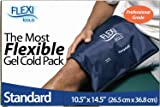 FlexiKold Ice Pack (Standard ) - Reusable Gel Cold Pack for First Aid, Sports Injuries, Pain Relief and Cold Therapy - (36.8 cm x 26.5 cm)