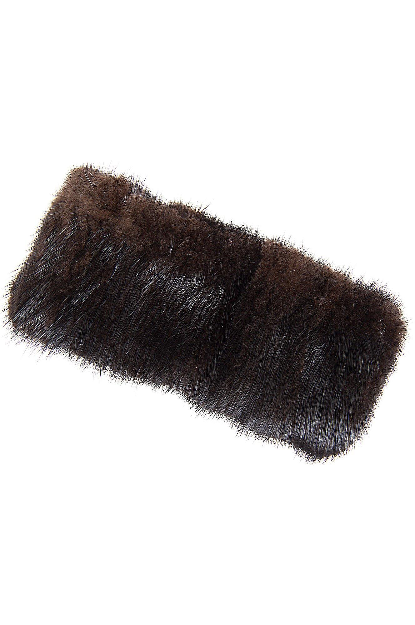 Knitted Finn Mink Fur Headband by Overland Sheepskin Co