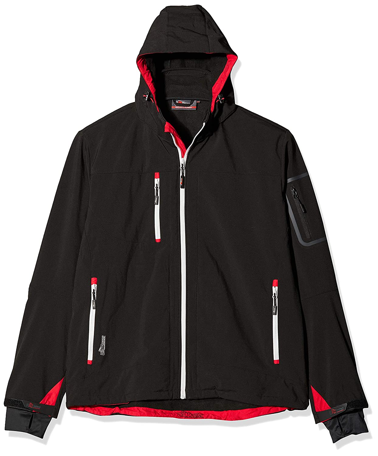 U POWER GIACCA METROPOLIS IN SOFT SHELL, COLORE: Black