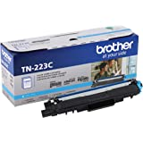 Brother Genuine TN223C, Standard Yield Toner Cartridge, Replacement Cyan Toner, Page Yield Up to 1,300 Pages, TN223…
