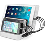 Aizbo USB Charging Station, 8-Port Multiple Device Charging Dock,96W 2.4A Universal Desk Organizer Detachable Charge Station for iPhone / iPad / Smartphones / Tablets